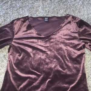 Velvet dusty purple 3/4 sleeve